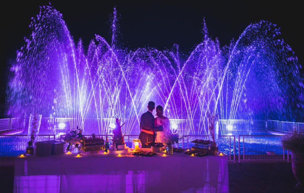 Spectacle de fontaines au Pavillon Sully - Château de l'Aumérade à Pierrefeu dans le Var