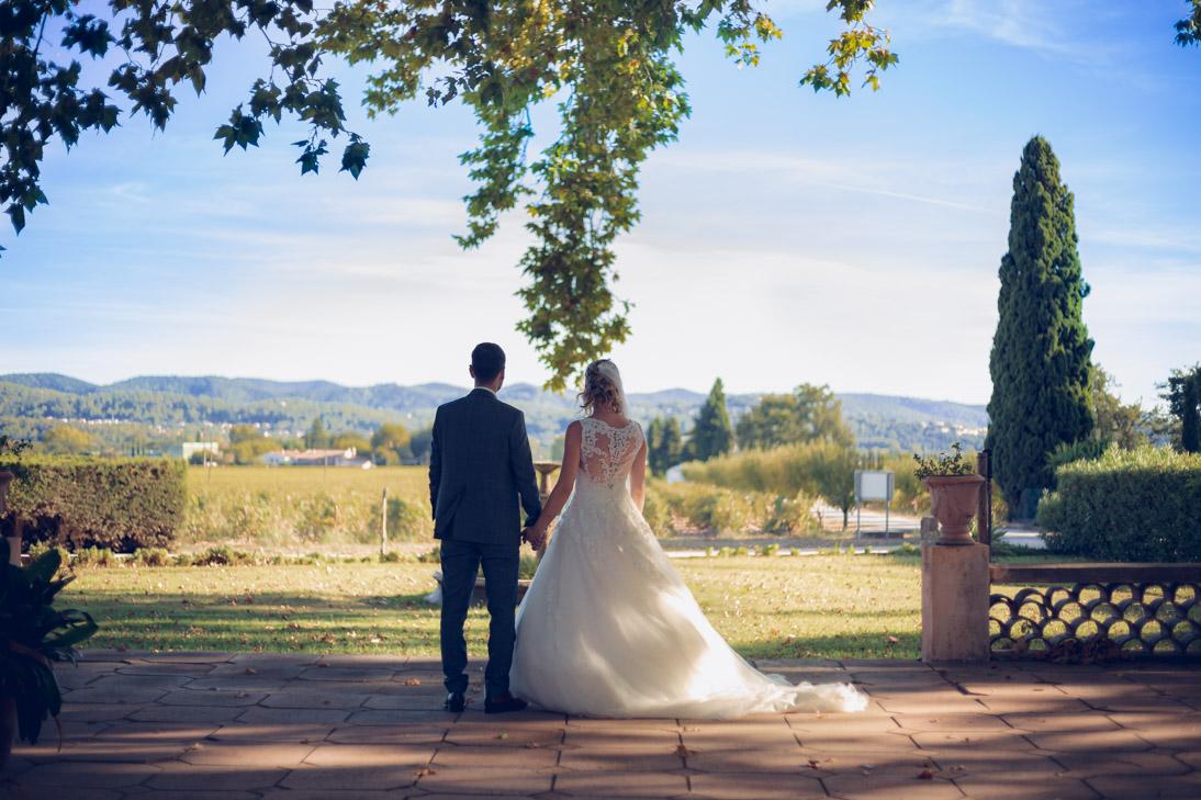 Photo de mariés après retouche
