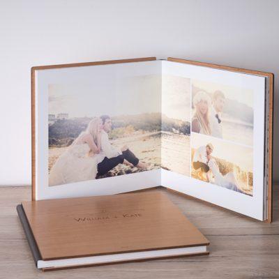 album photo de mariage ouvert pour montrer les pages.